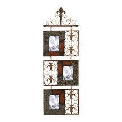"BZBZ56315 - Metal Wall Photo Frame 46""H, 15"" - Metal Wall Photo Frame 46""H, 15"". Wall decor with great utility. Support your existing wall decor with this frame."