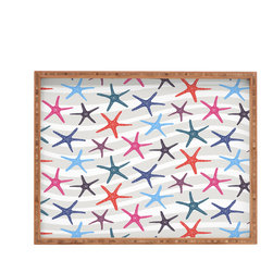 DENY Designs - Zoe Wodarz Star Fish Rectangular Tray - With DENY's multifunctional rectangular tray collection, you can use it for decoration in just about any room of the house or go the traditional route to serve cocktails. Either way, you��_ll be the ever so stylish hostess with the mostess!