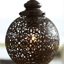 Moroccan Pendant - This pendant has such a timeworn feel and would be perfect in an entry or a little nook.