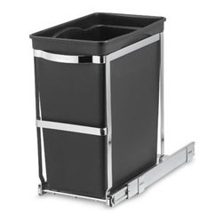 Simplehuman - simplehuman 30-Liter Pull-Out Waste Basket - Pull-out 30-liter waste basket is great for saving space. All you have to do is mount inside a cabinet to keep it out of sight, but at the same time keep it within easy access.