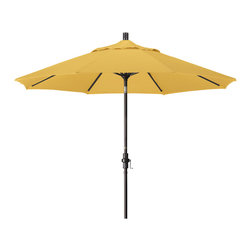 California Umbrella - 9 Foot Olefin Aluminum Crank Lift Collar Tilt Patio Umbrella, Bronze Pole - California Umbrella, Inc. has been producing high quality patio umbrellas and frames for over 50-years. The California Umbrella trademark is immediately recognized for its standard in engineering and innovation among all brands in the United States. As a leader in the industry, they strive to provide you with products and service that will satisfy even the most demanding consumers.