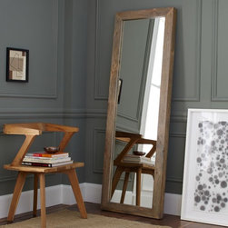 Parsons Floor Mirror, Natural Solid Wood - This floor-length mirror feels really grounded because of the sturdy, solid wood frame. The frame really brings so much texture to the room. This piece is simple and rustic and would be perfect in a modern or shabby chic home.