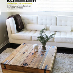 Rubbish Furniture - Square Coffee Table with Storage - oephoto