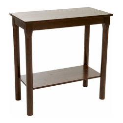 Great Deal Furniture - Victor Wood Console Table, Brown Mahogany - The Victor Acacia Wood Accent Table is a great addition to any room in your home. This table combines form and function by tastefully accessorizing the overall decor of a room while also offering table top space. The Victor Acacia Wood Accent Table will add a touch of sophistication and aesthetic appeal to any interior space.