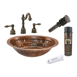 Premier Copper Products - Oval StackedStone Under Counter Sink w/Faucet - PACKAGE INCLUDES: