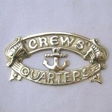 Amazon.com: Brass Crew's Quarters Door Sign - Nautical Brass Signs - Nautical De