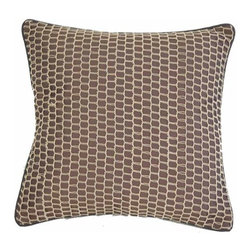India House Brass, Inc. - Chocolate and Beige 18-Inch Square Pillow - Whether you are looking for plain or fancy, modern or traditional, our decorative pillows are just the right combination of modern function and vintage styling.  -Spot Clean Only India House Brass, Inc. - 84072