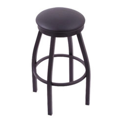 Holland - Holland 30 in. Cambridge Backless Bar Stool - Black Wrinkle Finish -Black Vinyl - Shop for Stools from Hayneedle.com! Show off your taste for design with the Holland 30 in. Cambridge Backless Bar Stool - Black Wrinkle Finish -Black Vinyl Seat. Designed to bring out the subtleties of your modern palette this stool is perfect for relaxing brunches or after dinner drinks. Sized to coordinate with standard bar heights this piece rejuvenates urban or transitional decors. A comfortable swivel no arms or back for spacious seating and a solidly welded frame make it as attractive as it is durable. Please note: This item is not intended for commercial use. Warranty applies to residential use only.About Holland Bar StoolsWith over 25 years of experience in the commercial furniture industry Cambridge Stool Co. was founded on the principles of fine quality craftsmanship and service. As an industry leading manufacturer of upscale commercial quality barstools tables and chairs we use the finest high quality plating grade steel to produce this 30 (bar height) swivel stool to insure a high quality and long lasting finish. Seats are covered in a durable leather-like vinyl. This stool comes with a 5 year residential warranty that covers any defects in workmanship or materials. There is a Lifetime Warranty on the swivel. Stool Rated for up to 400 lbs. For cleaning use a damp cloth or Formula 409 cleaner. Do not use abrasive cleaners or strong solvents. Made in the USA.