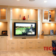 Contemporary Family Room by Techteriors, LLC