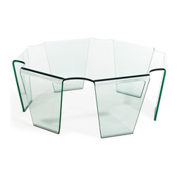 ZUO MODERN - Circuit Coffee Table Clear Glass - Circuit Coffee Table Clear Glass