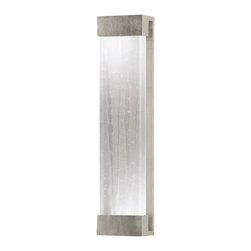 Fine Art Lamps - Crystal Bakehouse Clear Crystal Sconce, 811150-33ST - Shine a light on your world with a polished block of crystal shards nested in a sleek frame. Clean, simple lines make this fixture at home anywhere you mount it — indoors or out.