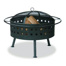 "Blue Rhino - Wide Aged Bronze Firebowl With Lattice Design 24"" - Uniflame WAD997SP 24"" Wide Aged Bronze Firebowl with Lattice Design"