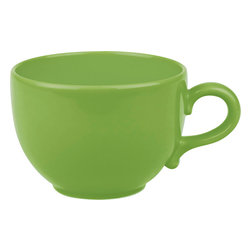 Waechtersbach - Set of 4 Jumbo Cups Fun Factory Green Apple - Make mornings lively with these Fun Factory Green Apple Jumbo Cups. Available in a variety of bold hues, these oversized round mugs are a must-have for every cocoa or coffee lover.