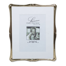 Lawrence Frames - Silver Metal Romance 8x10 Matted for 5x7 Picture Frame - Gorgeous decorative silver metal classic shaped design picture frame.  This silver metal frame has a rich and lustrous silver finish.  High quality black  velvet backing with easel for vertical or horizontal tabletop display, and comes with hangers for vertical or horizontal wall mounting.    Heavy weight cast metal picture frame is made with exceptional workmanship and comes individually boxed.   In this style the 8x10 size comes with a bevel cut mat for a 5x7 photo.