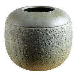 Artemano - Rounded Planter Pot Made of Cement - Transform your house into a home by integrating tasteful accent pieces rich in texture and dimension throughout. Hand-cast out of weather-resistant cement, each rounded planter pot is substantial in both weight and size and ideal for both indoor and outdoor use alike.  Given the handcrafted nature of this versatile planter pot, each piece is unique and bear one of a kind markings and striations that cannot be duplicated.