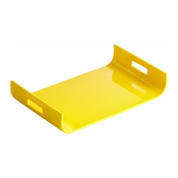 Yellow Lacquer Curved Tray - *Monroe Tray