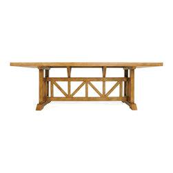 "Hadlock Dining Table - Dimensions: 30""h x 96""w x 42""d"