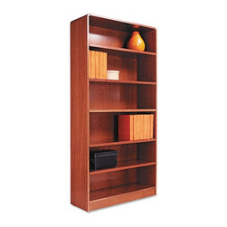Alera - Alera BCR67236MO Aleradius Corner Wood Veneer Bookcase - Medium Oak Multicolor - - Shop for Bookcases from Hayneedle.com! About AleraWith the goal of meeting the needs of all offices -- big or small casual or serious -- Alera offers an excellent line of furnishings that you'll love to see Monday through Friday. Alera is committed to quality innovative design precision styling and premium ergonomics ensuring consistent satisfaction.