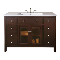 Avanity - Lexington 48 in. Vanity Only - The best of both worlds. This gorgeous vanity is equally suited to modern and traditional settings. It has a clean, streamlined look that anchors your bath, and a rich, espresso finish for a shot of warmth.