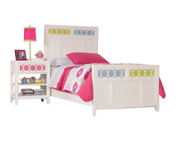 Hooker Furniture - Lily Colors Panel Bed with Colors Footboard 4 Pc Bedroom Set in White - Hooker Furniture - Bedroom Sets - 1508463X0PanelBed4PCPKG -
