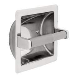 Liberty Hardware - Liberty Hardware 657B F.B. GUEST ROOM ACCESSORIES 6.25 Inch Tissue Paper Holder - Ideal for commercial buildings or office bathrooms, this recessed toilet paper holder is made of durable stainless steel material and is polished to coordinate with other bathroom fixtures. The plastic roller makes changing the paper easy and fast. Center to Center - 3.75 Inch, Width - 6.25 Inch, Height - 6.25 Inch, Projection - 3.63 Inch, Finish - Bright Stainless Steel, Weight - 0.97 Lbs.