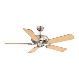"Savoy House Lighting - Savoy House Lighting Pine Harbor 52"" Transitional Ceiling Fan X-NS-VR5-CGS-25 - Adaptable to a wide range of spaces, this simple ceiling fan flaunts signature Savoy House quality with a stately Satin Nickel finish. Features reversible fan blades for optimal customization! Choose between"