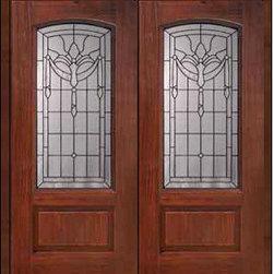 """Prehung Double Door 80 Fiberglass Palacio 1 Panel Arch Lite Glass - SKU#MCR06195_DFAP2BrandGlassCraftDoor TypeExteriorManufacturer CollectionArch Lite Entry DoorsDoor ModelPalacioDoor MaterialFiberglassWoodgrainVeneerPrice3410Door Size Options2(32"""")[5'-4""""]  $02(36"""")[6'-0""""]  $0Core TypeDoor StyleDoor Lite StyleArch LiteDoor Panel Style1 PanelHome Style MatchingDoor ConstructionPrehanging OptionsPrehungPrehung ConfigurationDouble DoorDoor Thickness (Inches)1.75Glass Thickness (Inches)Glass TypeDouble GlazedGlass CamingBlackGlass FeaturesTempered glassGlass StyleGlass TextureGlass ObscurityDoor FeaturesDoor ApprovalsEnergy Star , TCEQ , Wind-load Rated , AMD , NFRC-IG , IRC , NFRC-Safety GlassDoor FinishesDoor AccessoriesWeight (lbs)603Crating Size25"""" (w)x 108"""" (l)x 52"""" (h)Lead TimeSlab Doors: 7 Business DaysPrehung:14 Business DaysPrefinished, PreHung:21 Business DaysWarrantyFive (5) years limited warranty for the Fiberglass FinishThree (3) years limited warranty for MasterGrain Door Panel"""