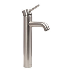 Dyconn Faucet - Dyconn Faucet Mystic VS1H14-BN Modern Bathroom / Vessel / Bar Faucet, Brushed Ni - The Dyconn Mystic bathroom faucet stands tall at nearly 13 inches and comes in a luxurious brushed nickel finish. An elevated and elongated spout makes using the Mystic faucet a truly pleasurable experience. A single rotating swivel handle regulates temperature with ease and adds to the faucets overall aesthetic appeal. The single-hole assembly configuration makes installation a breeze. All of our faucets come with a 3-year manufacturer warranty. Package includes faucet, hot & cold water hoses, mounting hardware, and installation instructions.