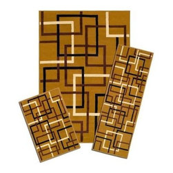 Capri - Runner: Area Rug: Floor Mat: Santa Fe Squares 3 Piece Set Contains 5' x 7',ching - Shop for Flooring at The Home Depot. This Carpi 3-Piece Rug Set includes an area rug, runner and mat.Produced with warm, deep colors, it features a rich and classic design. It will create an elegant look with timeless style and beauty for your home or office.