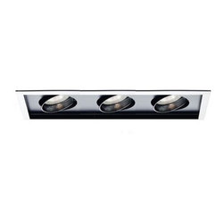 "WAC - Multi Spot Trim for MT-330HS - Trim Features: -Multi spot trim. -Trim finish: White. -Interior available in: -White finish. -Black finish. . -Durable stamped metal construction. -Gimbal ring style adjustable trim. -Lamp holder allows the lamp to be tilted to 25 degree from nadir. -All lamps have horizontal aiming to 358 degree. -Abrasion resistant powder coat painted finish. -No transformer required. -Requires 3"" clearance from insulation on all sides where applicable. -Trimless design includes patented spackle trim to help ensure smooth ceiling finish and a clean look. -Assembly required. -UL listed for damp location. -CUL listed for damp location. Specifications: -120 Volts. -Accommodates (3) 75W PAR30 incandescent bulb (not included). -W.A.C Lighting provides 5 year warranty on products. -Overall dimensions of trim: 20.75"" W x 8.125"" D. -Overall dimensions of housing: 7.25"" H x 28.125"" W x 9.875"" D."