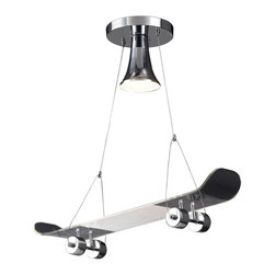 Elk Lighting - Elk Lighting ELK-5112-1 Novelty Skateboard Pendant Light - Fun for all ages! These whimsical lighting fixtures will put a smile or your child's face with a myriad of shapes and themes meant to stir the imagination and create a lighthearted environment.