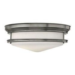 Hinkley Lighting - Hinkley Lighting 3304AN Hinkley Lighting 3304OZ Oil Rubbed Bronze 4 Light Indoor - Hinkley Lighting 330 Hadley Flush Mount Ceiling Light The Hadley is a retro-styled flush mount collection. The etched opal one piece glass shade features
