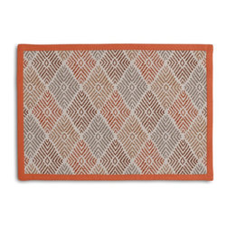 Red & Orange Diamond Block Print Tailored Placemat Set - Class up your table's act with a set of Tailored Placemats finished with a contemporary contrast border. So pretty you'll want to leave them out well beyond dinner time! We love it in this hand printed diamond pattern in autumnal hues of red, orange & plum. artisan flare for any style home.