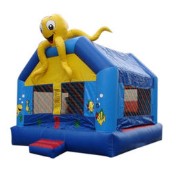 Kidwise - Kidwise Commercial Sea Creature Bounce House - KE-MN1137-13 - Shop for Tents and Playhouses from Hayneedle.com! Let kids jump and play under the sea while Ollie the Octopus watches from the top of the sea castle in the Sea Creature Bounce House. This fanciful bounce arena features a large play area adorned with underwater friends. Perfect for a variety of special events or parties this large sea-themed play arena comes in your choice of 13- or 15-foot sizes and is made to hold up to 400 pounds and eight kids or 500 pounds and 10 kids. Made from 18-ounce vinyl material (PVC Tarpaulin) it offers everything needed for a fun time. This inflatable court includes a blower stakes and instructions. Also includes 30 day warranty against material defects and workmanship. Folded up or inflated the entire product weighs 205 (13-foot) or 235 (15-foot) pounds and is ideal for commercial use.Information About DeliveryWe are pleased to offer LTL delivery on this item that includes tailgate service. Tailgate service means that the item is lifted off the truck and placed at an immediate curbside location such as a driveway or parking lot. Our LTL delivery service will call to pre-arrange a delivery time. Please note that the item is very heavy. We suggest you make separate arrangements for help moving the item to its final location. If you would like additional help with the item from the LTL delivery service you may make separate arrangements when confirming the delivery time. Additional help moving the item will require separate additional fees payable to the LTL carrier.A lead-free product: a note from KidwiseRecent concerns regarding inflatable bounce products with illegal lead concentrations have lead to allegations against producers and distributors of these products by the state of California. Naturally this serious matter is of concern to us and to our customers. Kidwise products are not included in these allegations. Our materials are tested at intervals throughout