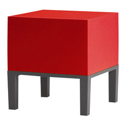 Quinze and Milan - Quinze and Milan Primary Pouf 01 Stool, Red - Stripped to the essence, PRIMARY is the first comprehensive Quinze + Milan collection and a line that deserves to be called a Quinze + Milan classic. PRIMARY kicked off the use of QM FOAM, a proprietary material developed and produced by Quinze + Milan.
