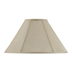 CAL Lighting - CAL Lighting 10 in. Cream Fabric Vertical Piped Coolie Shade SH-8101/15-CM - Shop for Lighting & Fans at The Home Depot. This durable fabric shade is a good addition to any decor. It features a round bell shape with visible trim. Simple in design, it works well any many styles and finishes.