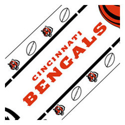 Sports Coverage - NFL Cincinnati Bengals Football Self-Stick Wall Border Roll - Features: