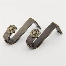 Rod Desyne 1911-1 Pair 1-3/8 Inch Bracket - Knobs and Hardware