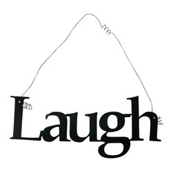 'Laugh' Metal Wall Hanging - This listing is for one inspirational word, LAUGH
