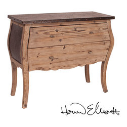 Howard Elliott Rustic Wood and Metal Console Table - Howard Elliott Rustic Wood and Metal Console Table