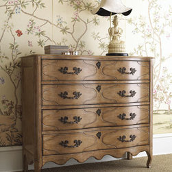 """Horchow - Tuscany Chest - Escape the ordinary with this """"Tuscany"""" Bedroom Furniture . You can create your very own Italian getaway in bedroom furniture combining an iron bed and other pieces made of birch solids and veneers. Imported. Queen canopy bed, 65""""W x 85.5""""L x 91""""T. K..."""