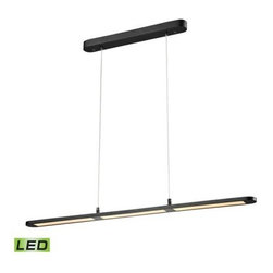 Elk Lighting - Elk Lighting 50003/LED Lino Chandelier - Lino is a linear LED light fixture, finished in Matte Black, that will enhance an island or dining room table with its slim design and crisp, functional light.