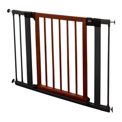 Munchkin - Wood & Steel Designer Safety Gate - You don't kid around when it comes to child-proofing, yet you still want your home to look chic. The solution: This sleekly designed wood and steel safety gate. It keeps little ones where they belong without detracting from your decor.
