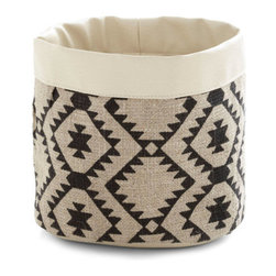 Haute on the Range Basket - Small doses of pattern are a simple and cute way to bring pizzazz into a room without being overwhelming. This towel basket is spot on.