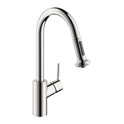 Hansgrohe - Hansgrohe Talis S Dual-Spray High Arc Pull-Down Kitchen Faucet, Chrome - Hansgrohe 14877001 Talis S Dual-Spray High Arc Pull-Down Kitchen Faucet, Chrome