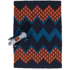 Fairisle Rug, Peacock + Orange - Rugs - Living