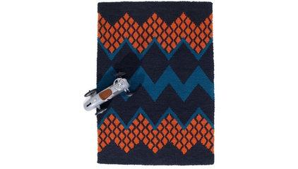 Fairisle Rug, Peacock + Orange - Rugs - Living