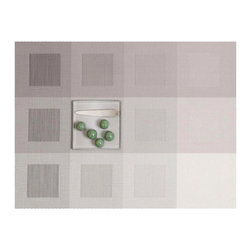 Chilewich - Engineered Squares Placemats Set/4 By Chilewich , Light Grey - Engineered Squares Placemats Set/4 | Light Grey