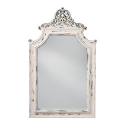 Feiss - Feiss MR1189HPW  Hand Painted White Mirror - Finish: Hand Painted White