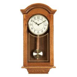 RIVER CITY CLOCKS - Classic American Regulator - Oak Finish - Oak finished cabinet